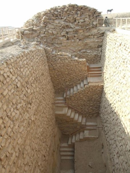 Steps leading to the Pyramid