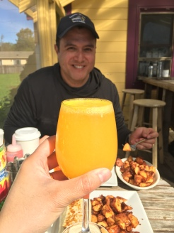 Fresh Squeezed OJ In the Mimosas!